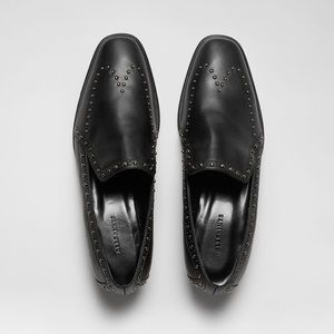"""Studded """"Camden"""" Black Loafers by All Saints"""